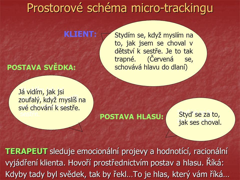 Prostorové schéma micro-trackingu