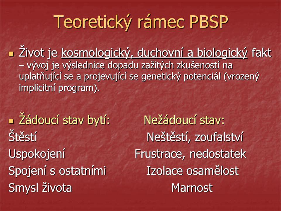 Teoretický rámec PBSP
