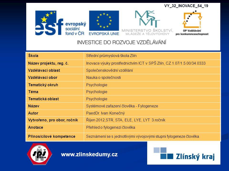 www.zlinskedumy.cz VY_32_INOVACE_54_19 Škola