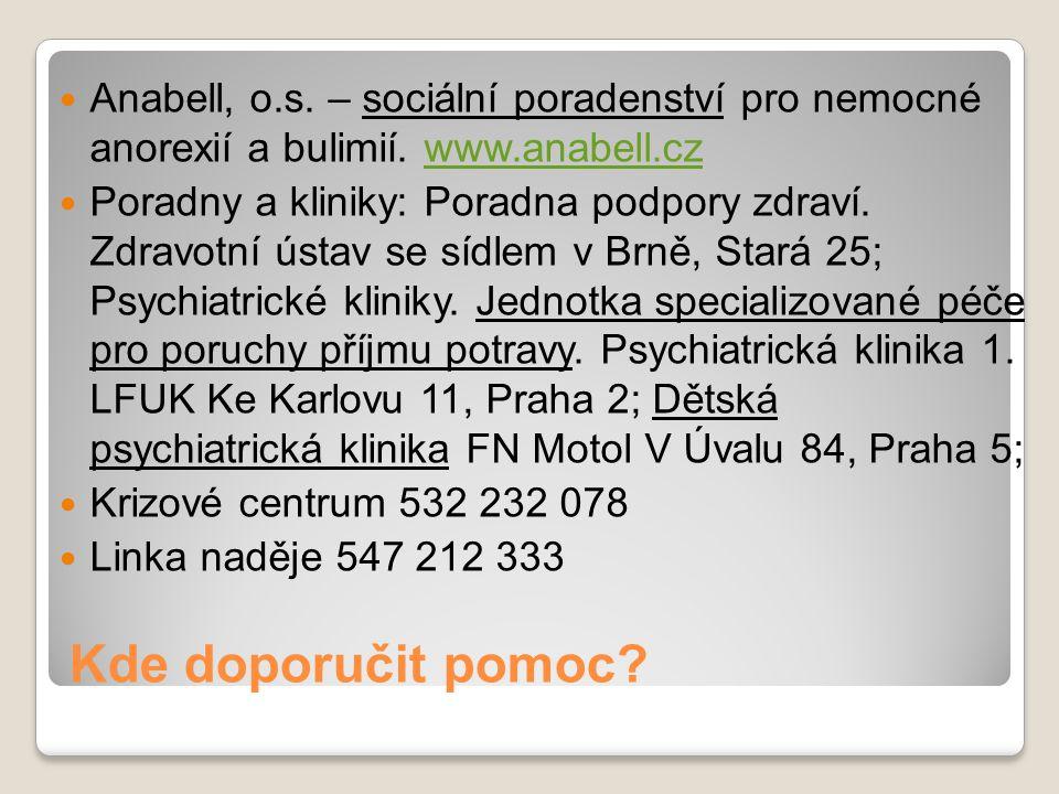 Anabell, o. s. – sociální poradenství pro nemocné anorexií a bulimií