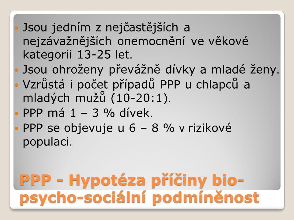 PPP - Hypotéza příčiny bio-psycho-sociální podmíněnost
