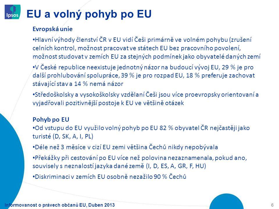 EU a volný pohyb po EU Evropská unie