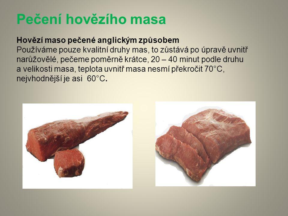 Pečení hovězího masa