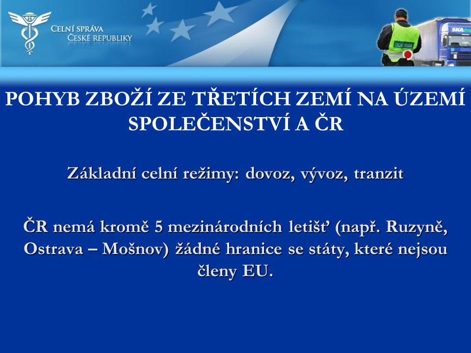 POHYB ZBOŽÍ ZE TŘETÍCH ZEMÍ NA ÚZEMÍ SPOLEČENSTVÍ A ČR