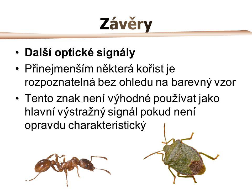 Závěry Další optické signály