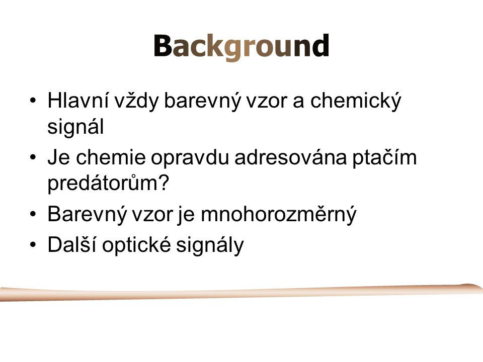 Background Hlavní vždy barevný vzor a chemický signál