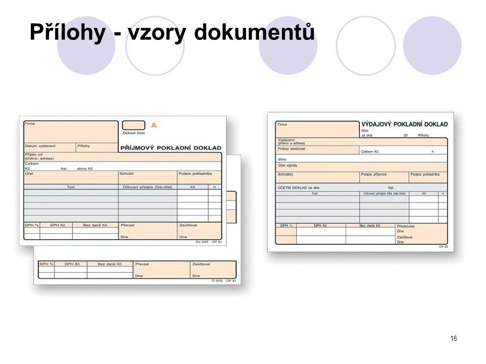 Přílohy - vzory dokumentů