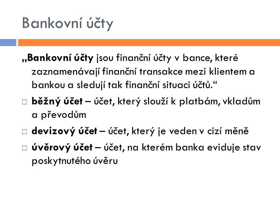 Bankovní účty