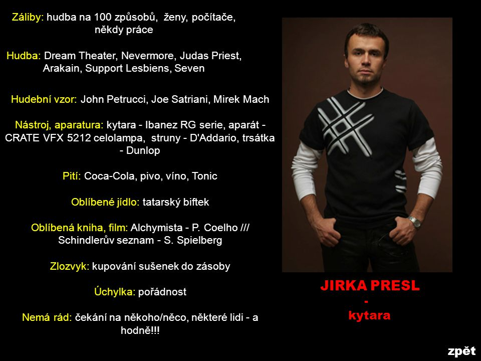 JIRKA PRESL - kytara zpět