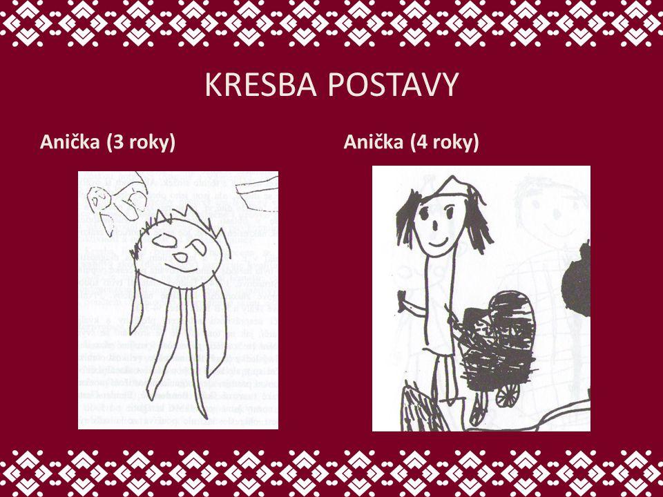 KRESBA POSTAVY Anička (3 roky) Anička (4 roky)