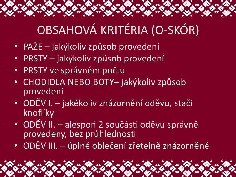 OBSAHOVÁ KRITÉRIA (O-SKÓR)