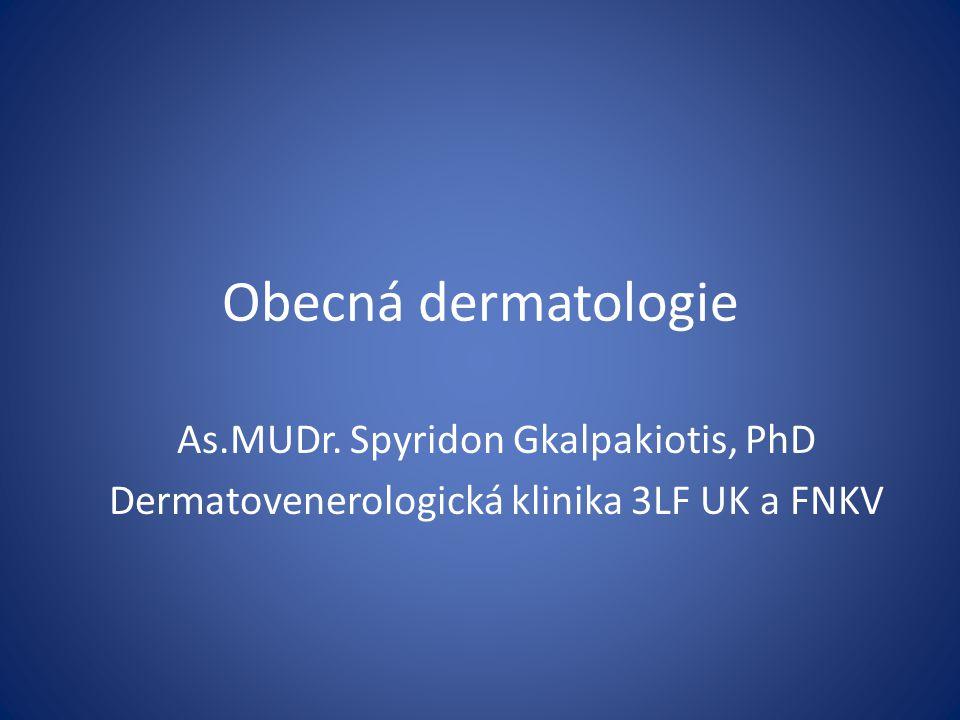 Obecná dermatologie As.MUDr. Spyridon Gkalpakiotis, PhD