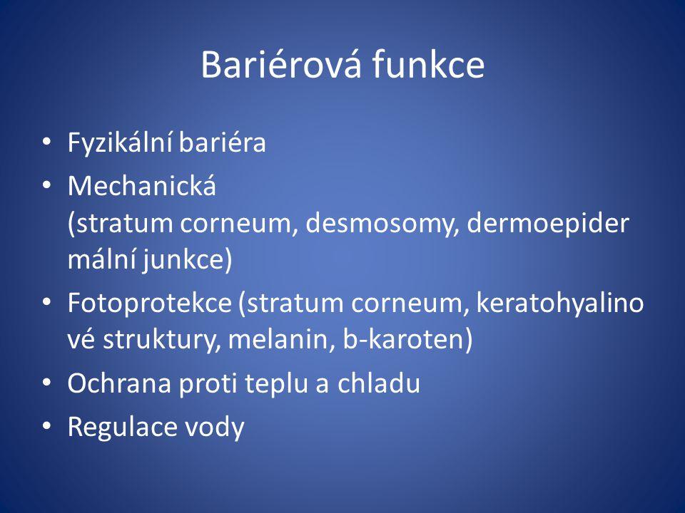 Bariérová funkce Fyzikální bariéra