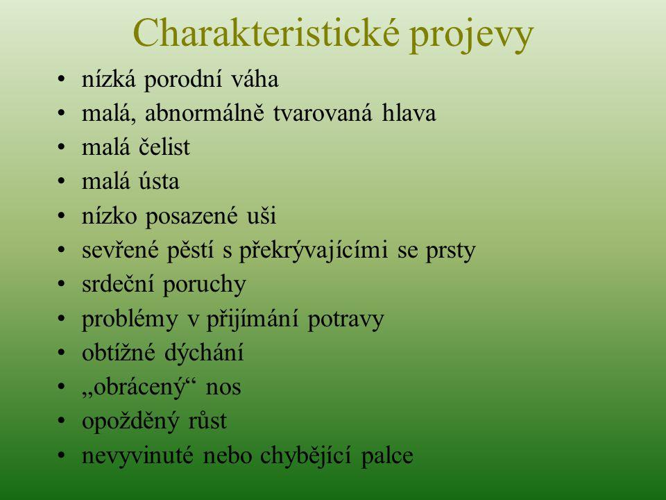 Charakteristické projevy
