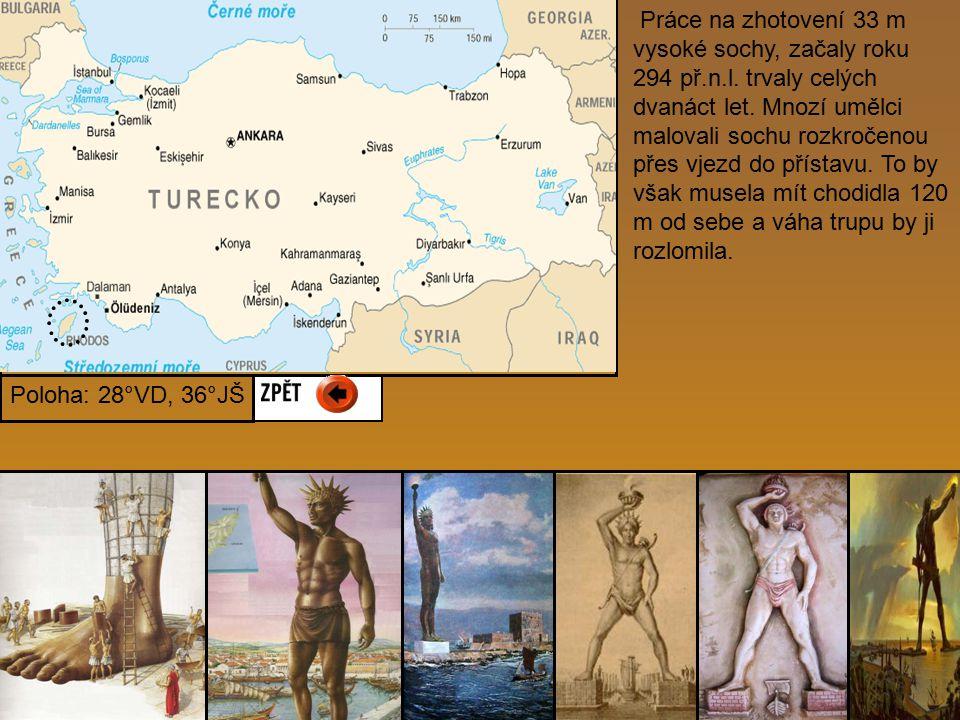 Práce na zhotovení 33 m vysoké sochy, začaly roku 294 př. n. l