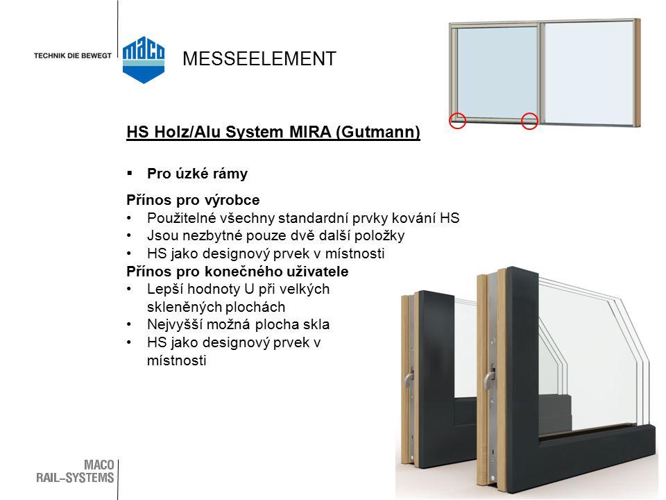 MESSEELEMENT HS Holz/Alu System MIRA (Gutmann) Pro úzké rámy