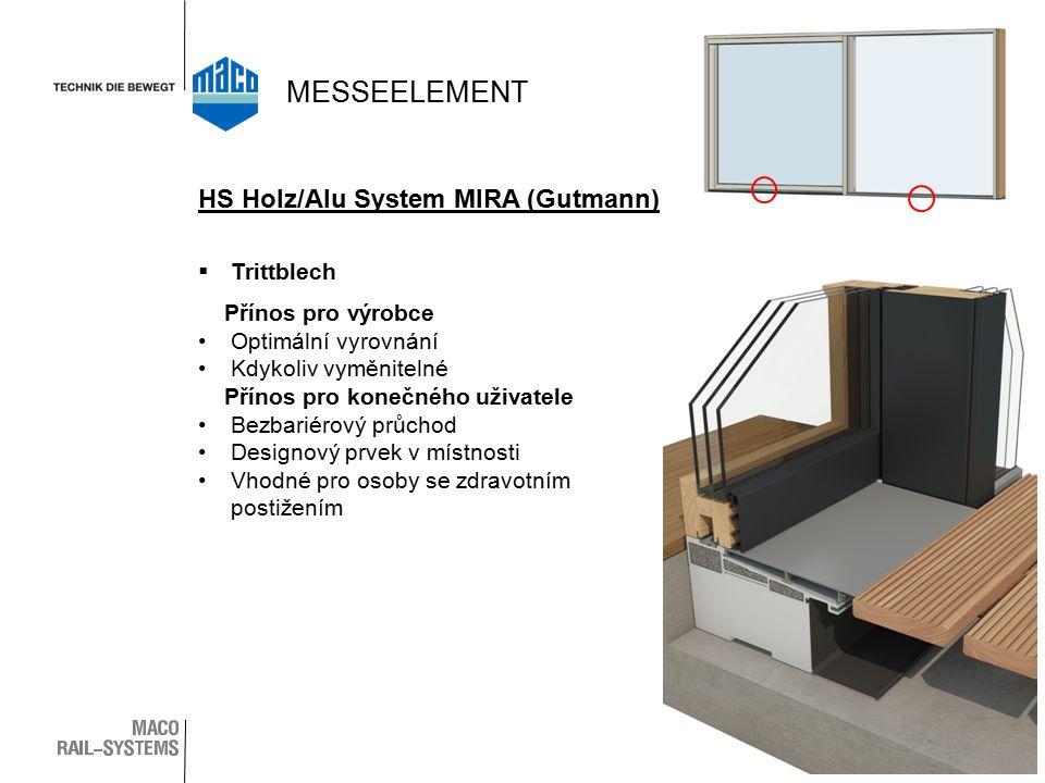 MESSEELEMENT HS Holz/Alu System MIRA (Gutmann) Trittblech