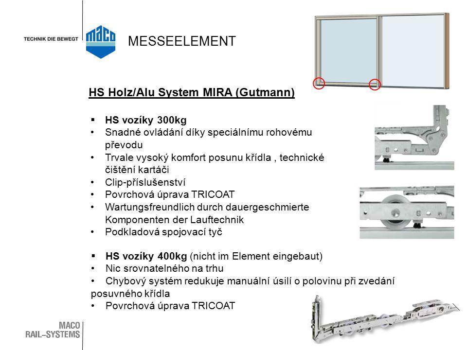 MESSEELEMENT HS Holz/Alu System MIRA (Gutmann) HS vozíky 300kg