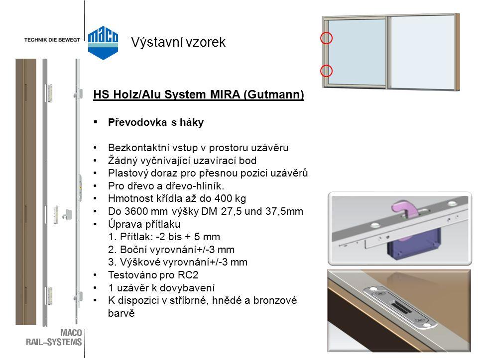 Výstavní vzorek HS Holz/Alu System MIRA (Gutmann) Převodovka s háky