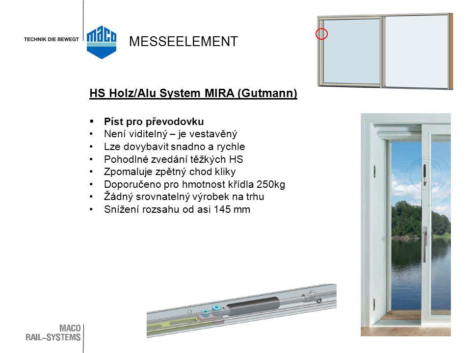 MESSEELEMENT HS Holz/Alu System MIRA (Gutmann) Píst pro převodovku