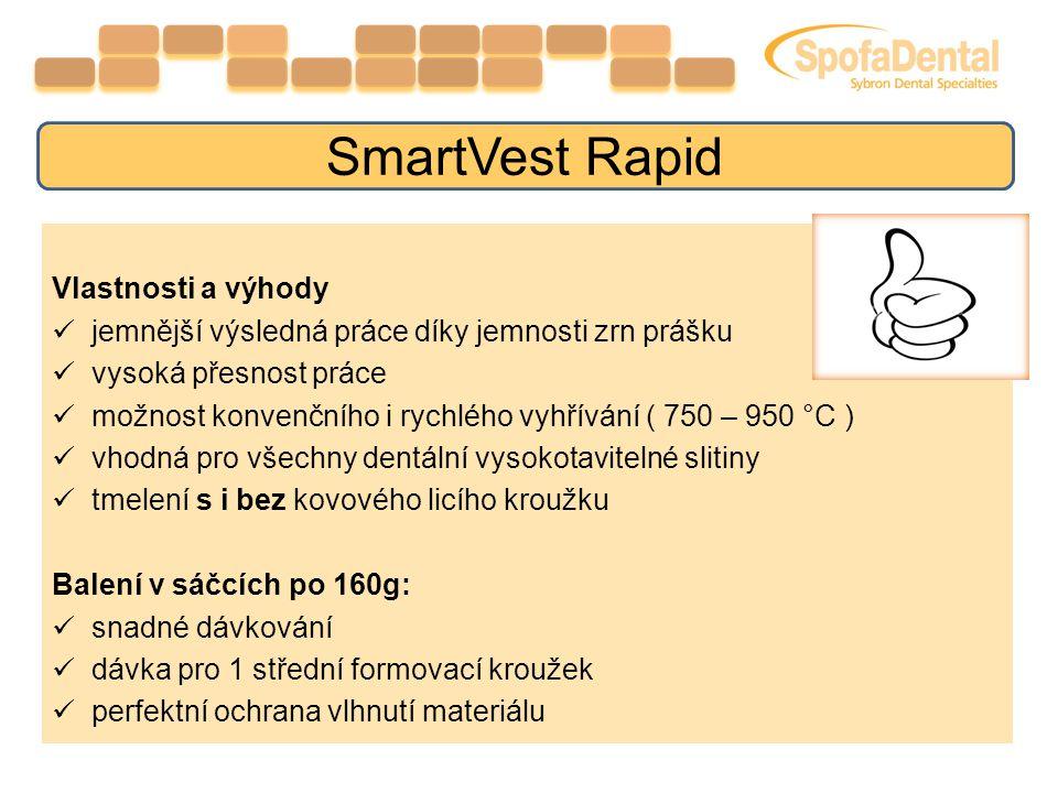 SmartVest Rapid Vlastnosti a výhody