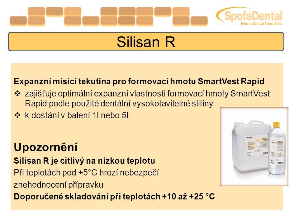 Silisan R Expanzní mísící tekutina pro formovací hmotu SmartVest Rapid.