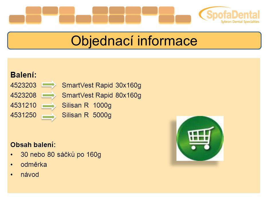 Objednací informace Balení: 4523203 SmartVest Rapid 30x160g