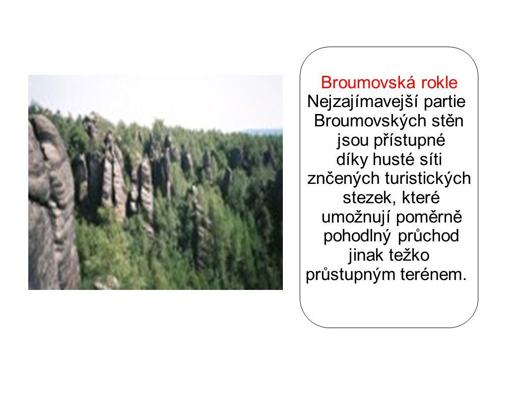 Nejzajímavejší partie Broumovských stěn jsou přístupné díky husté síti