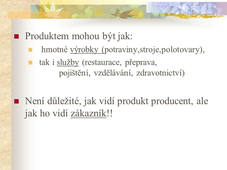 Produktem mohou být jak: