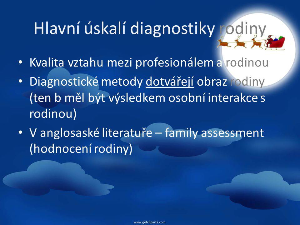 Hlavní úskalí diagnostiky rodiny