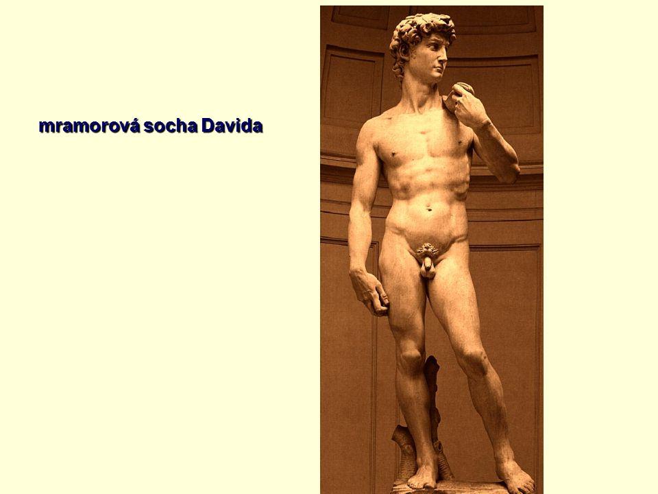 mramorová socha Davida