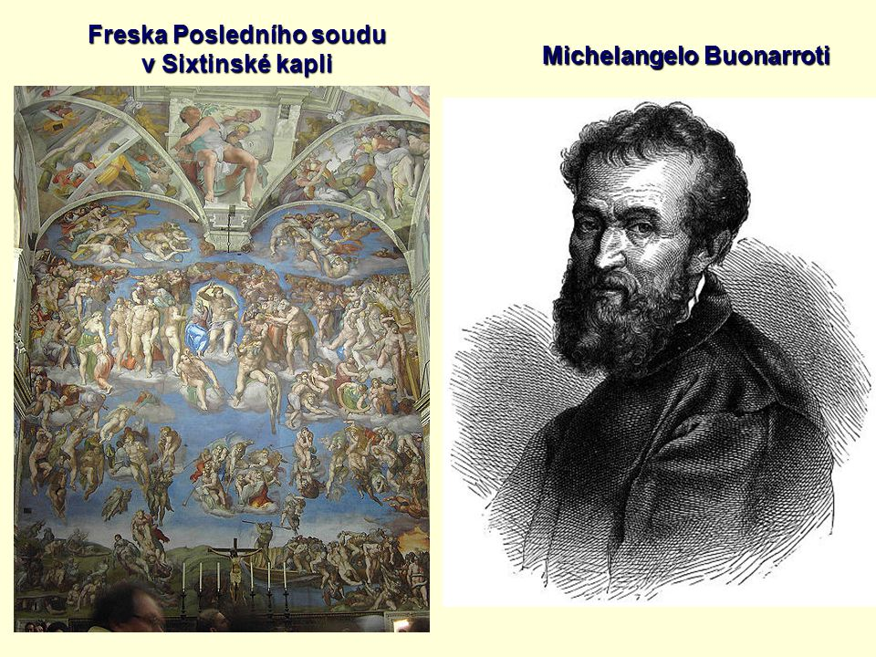 Freska Posledního soudu Michelangelo Buonarroti