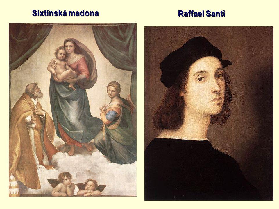 Sixtínská madona Raffael Santi