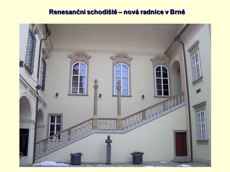 Renesanční schodiště – nová radnice v Brně