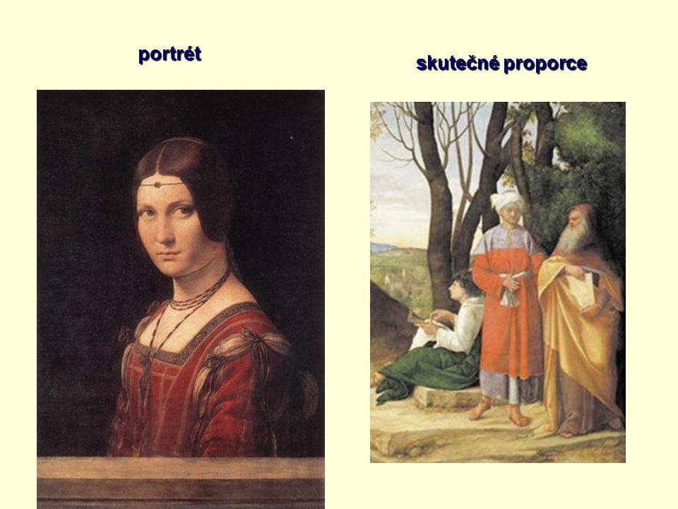portrét skutečné proporce