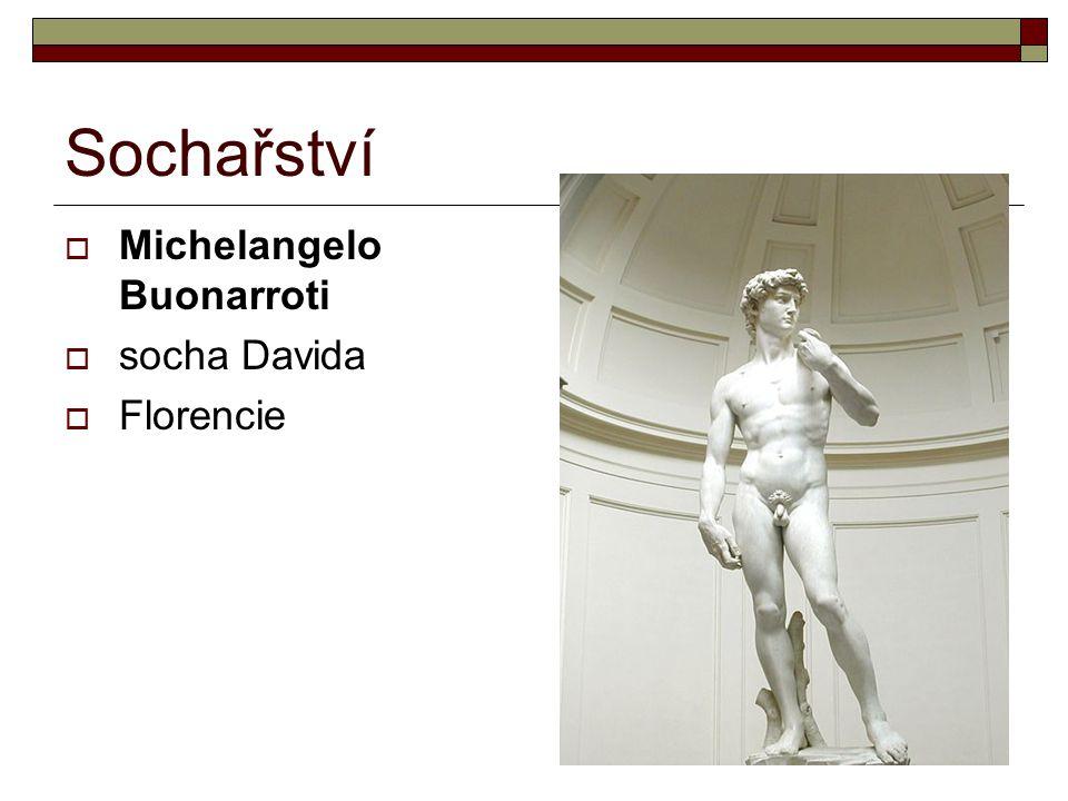 Sochařství Michelangelo Buonarroti socha Davida Florencie