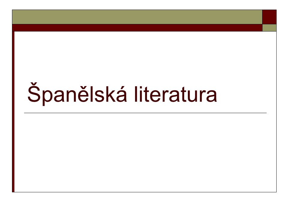 Španělská literatura