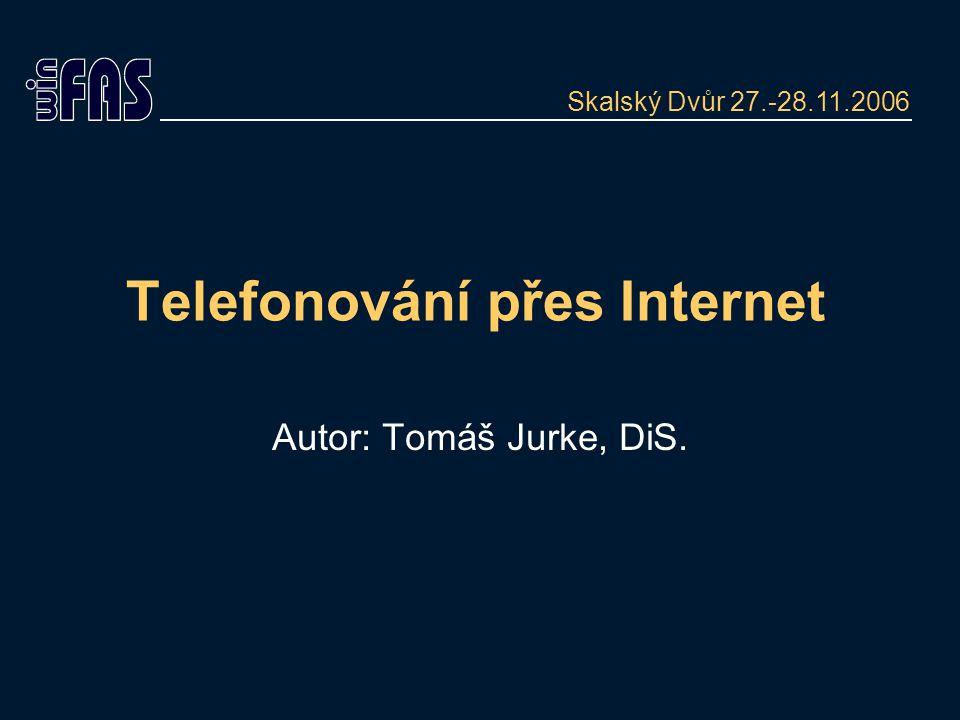 Telefonování přes Internet