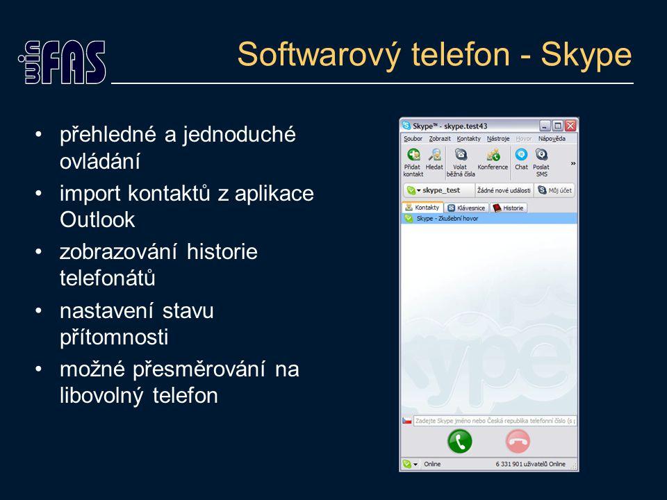 Softwarový telefon - Skype