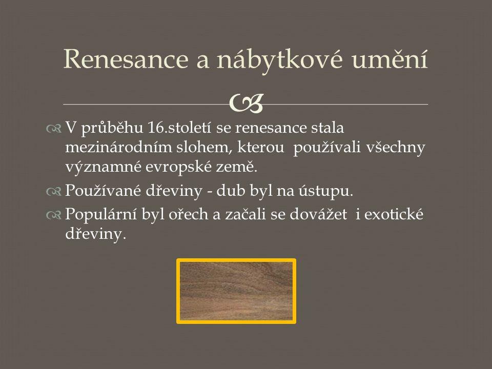 Renesance a nábytkové umění