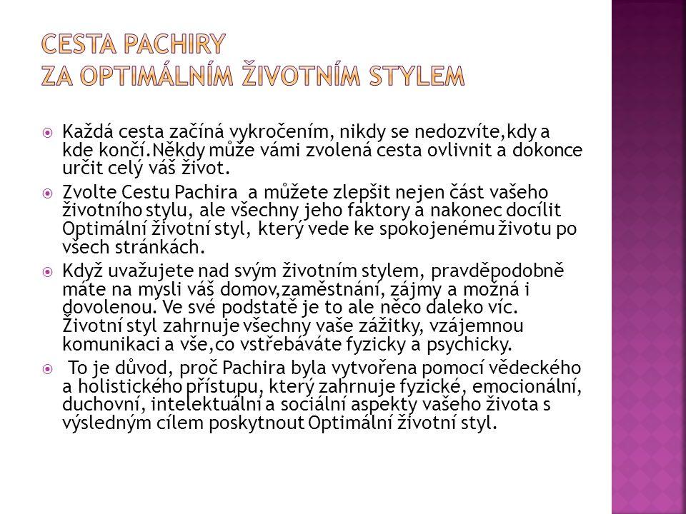 Cesta Pachiry za optimálním životním stylem