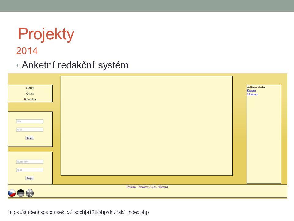 Projekty 2014 Anketní redakční systém