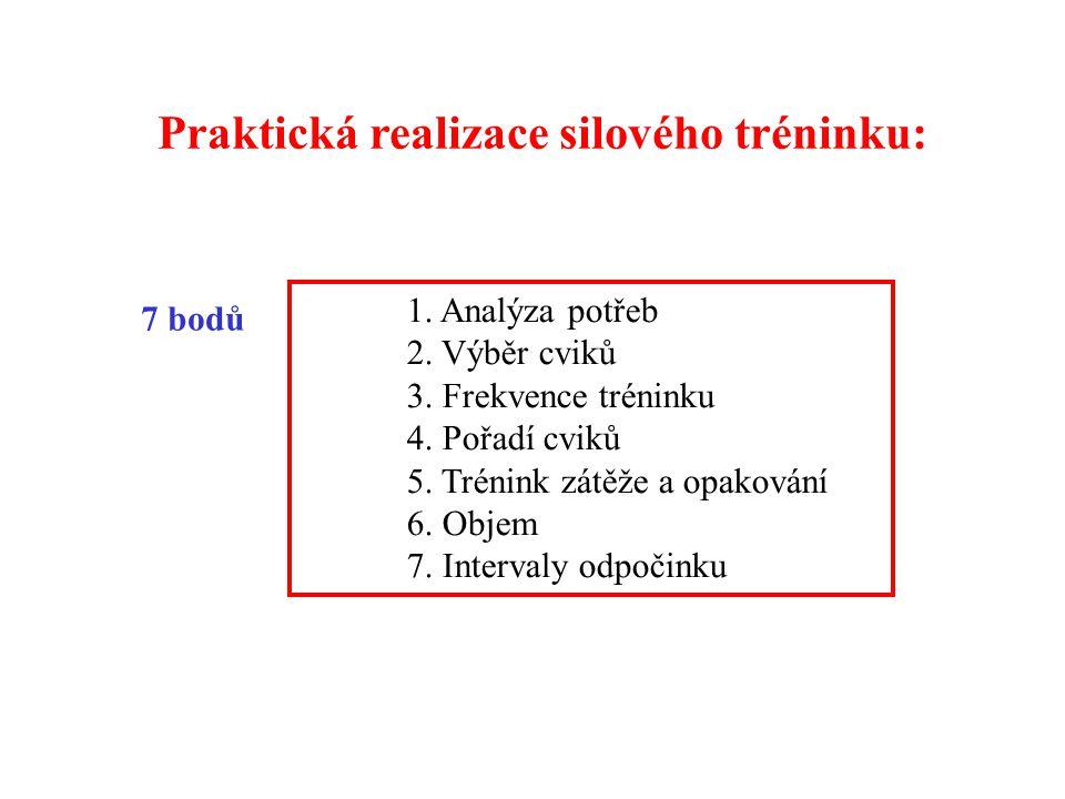 Praktická realizace silového tréninku:
