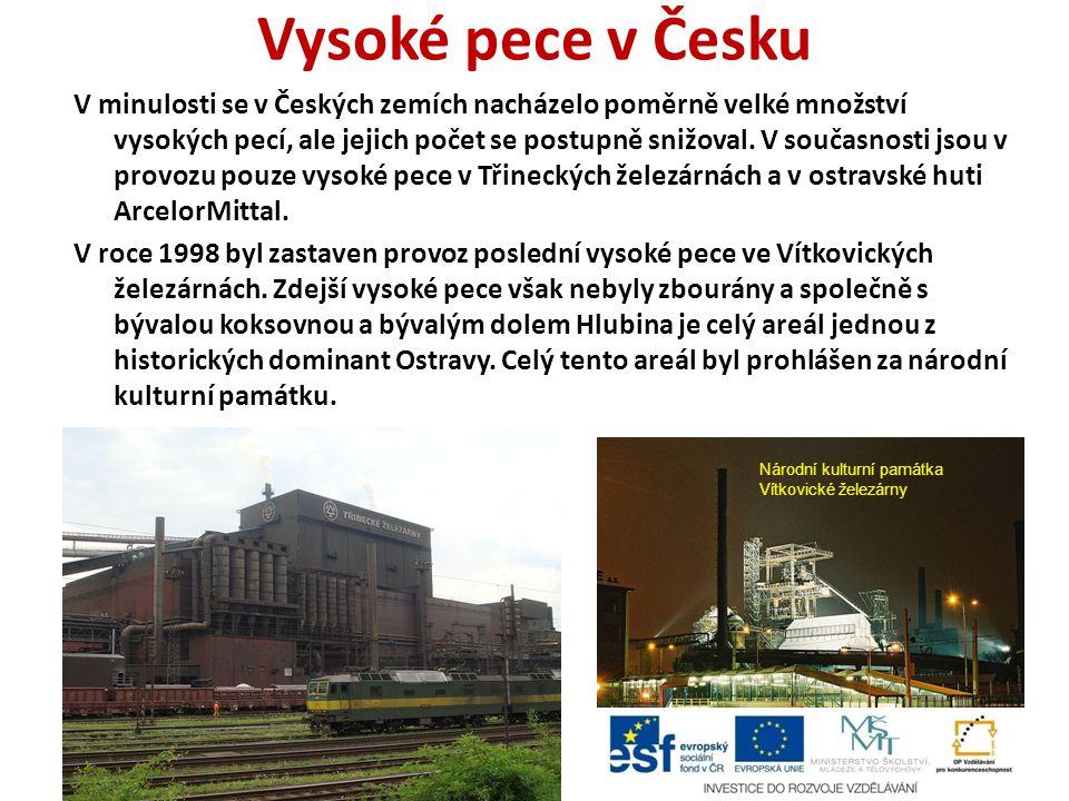 Vysoké pece v Česku