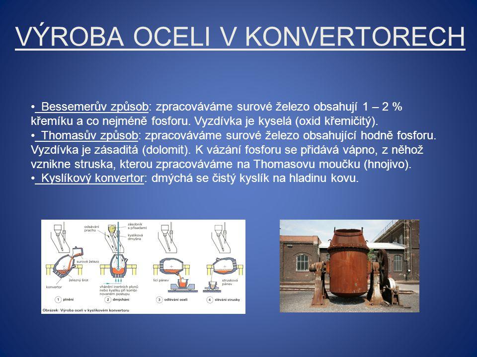 Výroba oceli v konvertorech