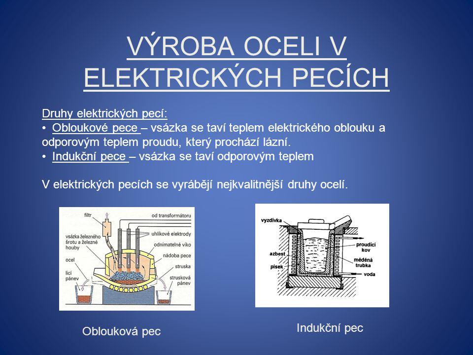 Výroba oceli v elektrických pecích