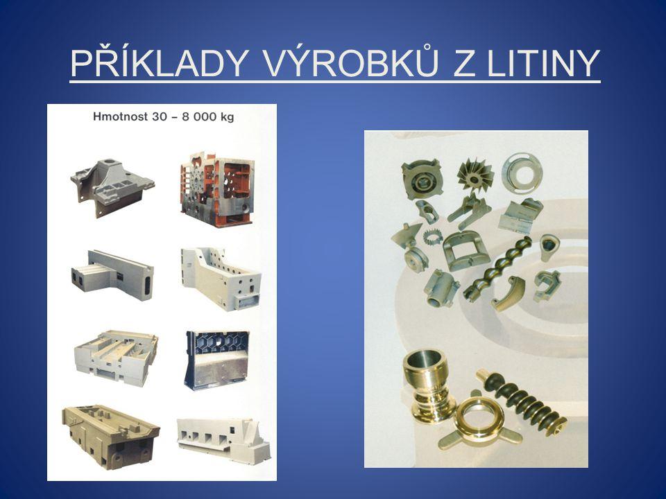 Příklady výrobků z litiny