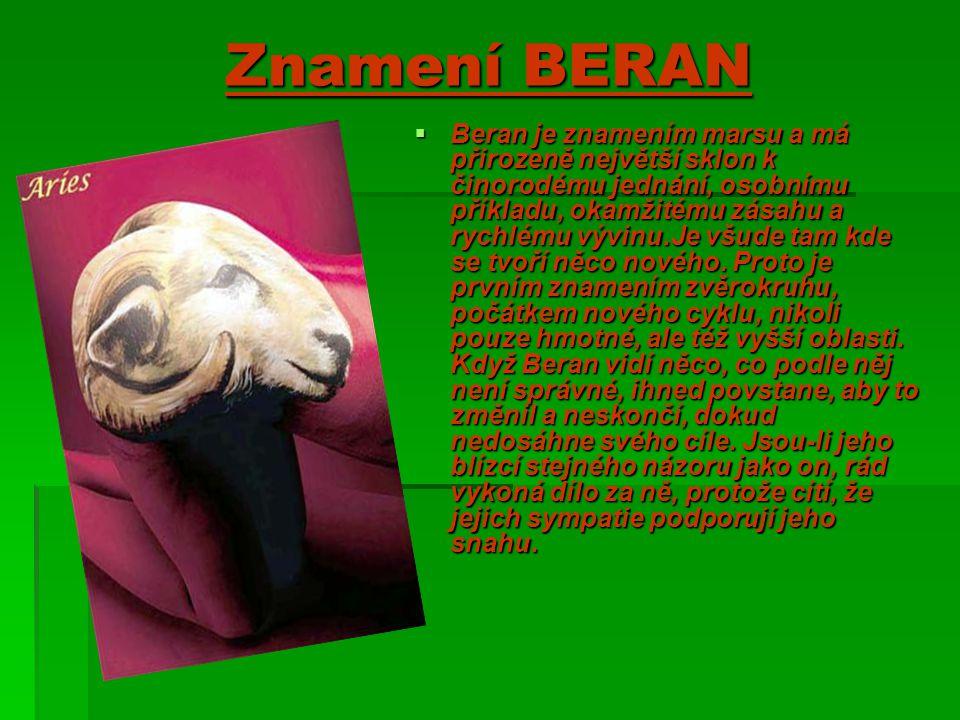 Znamení BERAN