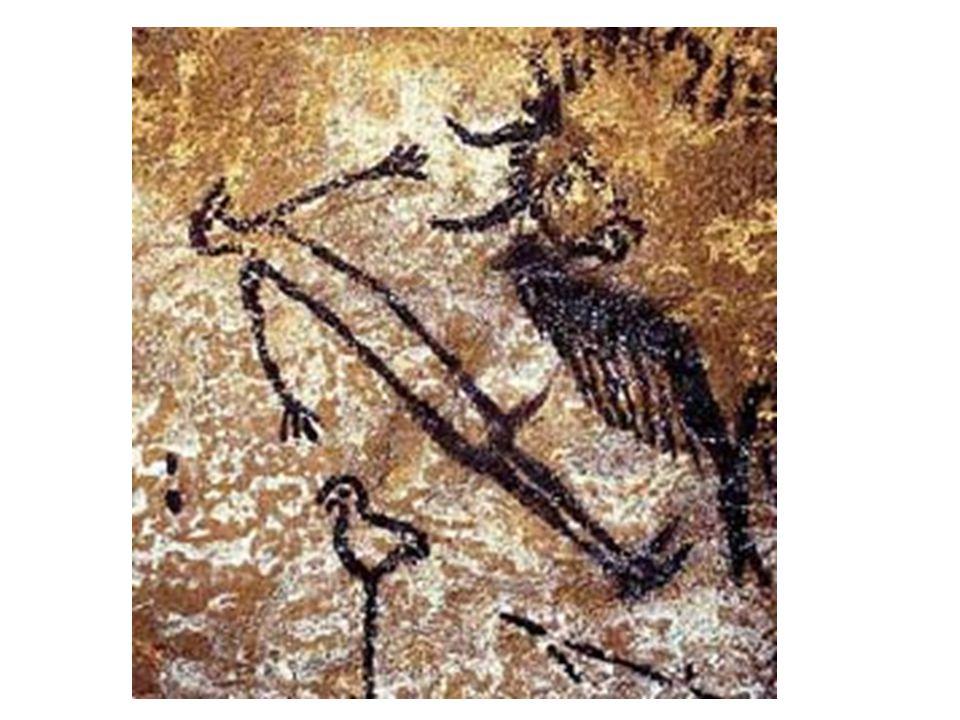 Mrtvý muž; muž se zvířecí maskou; muž po konfrontaci s bisonem