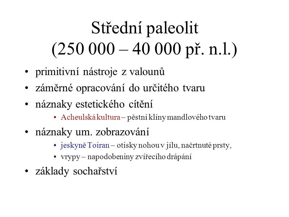 Střední paleolit (250 000 – 40 000 př. n.l.)